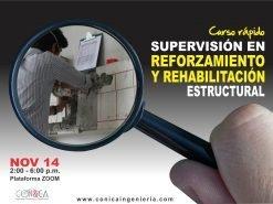 Curso rápido - Supervisión en eforzamiento y Rehabilitación Estructural - CON&CA